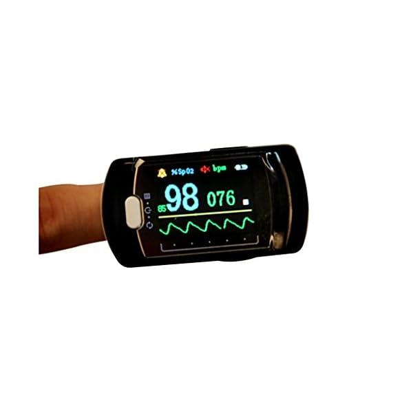 BLYL Monitor de Saturación de Oxígeno CMS-50E y Medición de la Frecuencia Cardíaca con Pantalla OLED a Todo Color para… 6