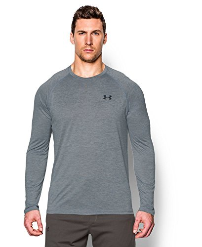 Under Armour Men's Tech Patterned Long Sleeve T-Shirt, Steel (035), Small