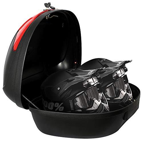 Todeco – Universal Topcase, Top-Box für Helm – Material: PP – Größe: 59,5 x 43,5 x 31 cm – Schwarz, 52 Liter