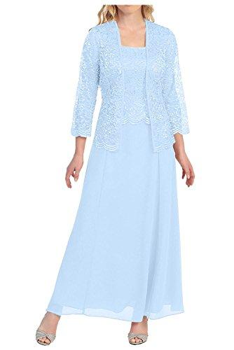 Rosa La Knoechellang Himmel mit Ballkleider mia Promkleider Braut Blau Jaket Herrlich Spitze Abendkleider Brautmutterkleider Langarm Sqftwanq