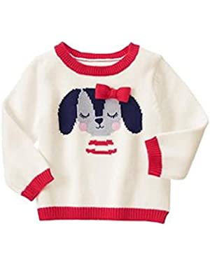 Baby Girl's Puppy Pullover Sweater 12-18 Months