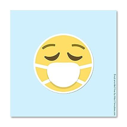 Amazoncom Surgical Mask Smiley Emoji Vinyl Decal Sticker 375