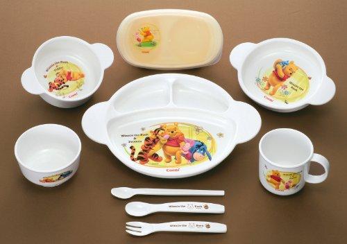 Combi Winnie the Pooh Baby Food Dish set Feeding dish box set by Combi (Image #3)