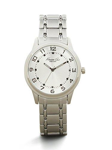 Kenneth Cole New York Men's Silvertone Grid Link Watch
