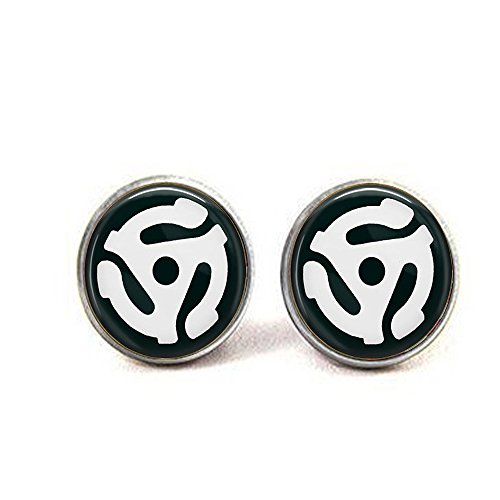 (stap 45 Record Adapter earrings - Gift for Music Lover - Old School Music Jewelry - Vinyl Record Jewelry)