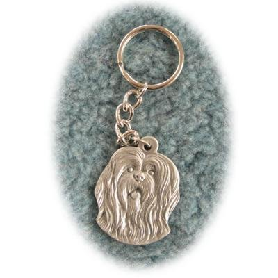 Rawcliffe Pewter Key Chain I Love My Lhasa Apso ()