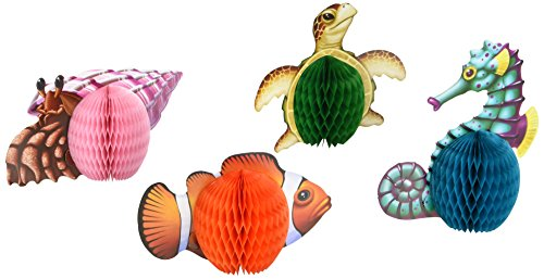 Sea Creatures Playmates 5 in. 4/pkg, Pkg/3