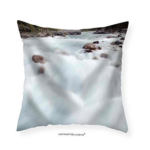 VROSELV Custom Cotton Linen Pillowcase Mistaya Canyon Banff National Park Alberta Canada - Fabric Home Decor 20