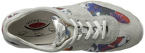 donna fiore Shoes basse ghiaccio beige Rollingsoft Gabor 14 da Sneakers argento 0RC1qwCxY