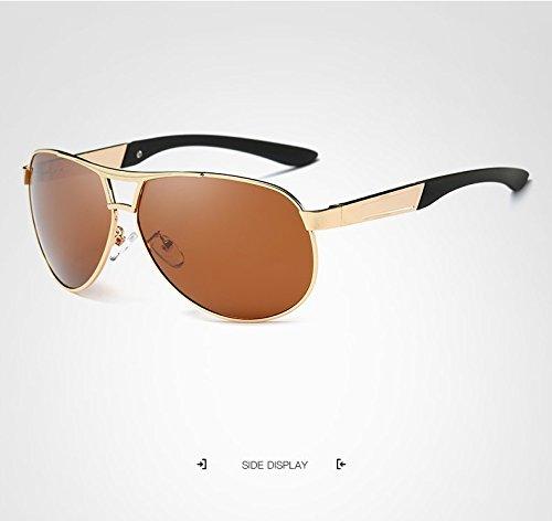 de Hombres Gafas tea de con diseñador de JCH Gafas Marca de Sol Sol Golden Espejo de Gafas polarizado Espejo Gafas polarizadas Sol Retro dFdzBwXq