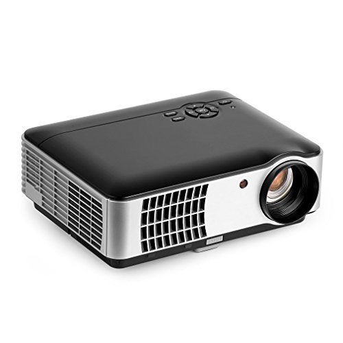 Elepawl LED Video Projector, Multimedia Home Cinema with 5.8 inch Display LCD TFT 1080P HD Display 1280×800 Resolution 2800 Lumens for Home Theater Projector / TV / Laptop /Playstaion 3/4 / Xbox One by Elepawl