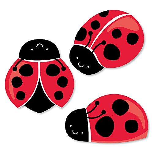 Big Dot of Happiness Happy Little Ladybug - DIY Shaped Baby Shower or Birthday Party Cut-Outs - 24 Count ()