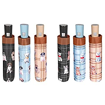 PERLETTI 25980 Mini 54/8 Aut - Paraguas para Perros y Gatos (Resistente al