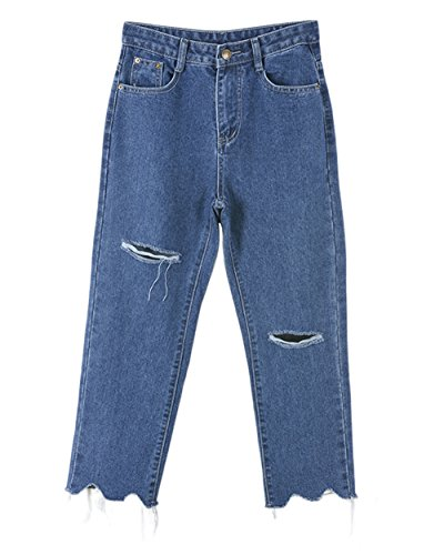 COCO clothing - Jeans - Jambe droite - Femme bleu bleu