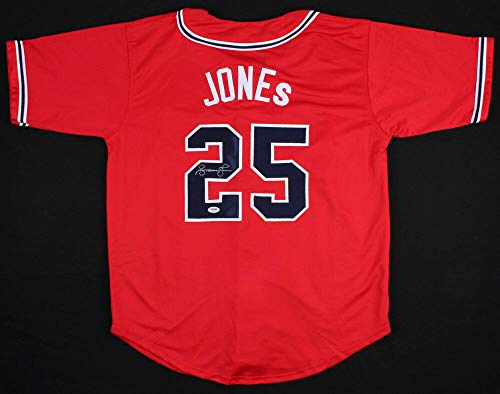 Andruw Jones Autographed Signed Memorabilia Atlanta Braves Stars And Stripes Labor Day Jersey - PSA/DNA Authentic
