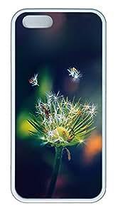 iPhone 5 5S Case Dandelion Closeup189 TPU Custom iPhone 5 5S Case Cover White