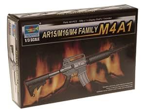 Trumpeter 01908 AR15/M16/M4 Family-M4A1 - Rifle de juguete (escala 1:3) [importado de Alemania]
