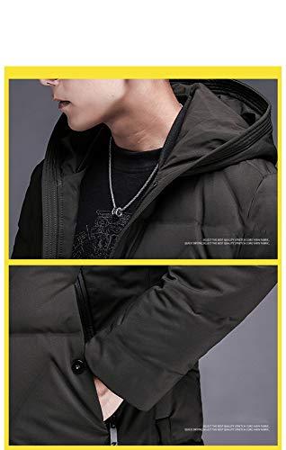 Brandon Youth Long Manteau en Coton épais pour Homme Blanc