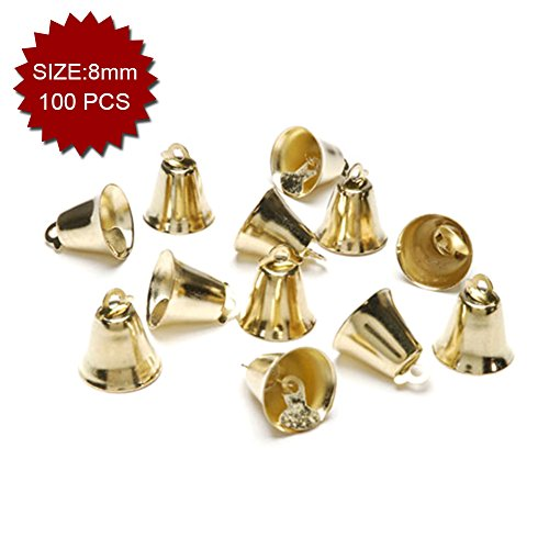 Aspire Brassy Mini Liberty Bells, Wedding Favor Supplies, 8mm, 100pcs