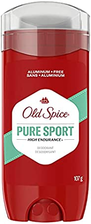Old Spice High Endurance Deodorant for Men, Aluminum Free, 48 Hour Protection, Original Scent, 107 g