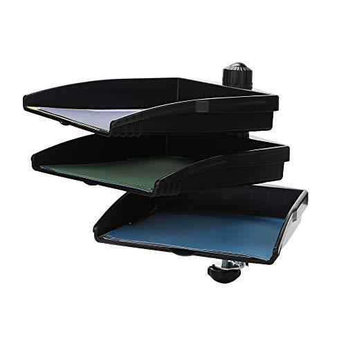 (Mind Reader SWIVTRY3-BLK Platform Swivel 360 Degree Documents Tray, Desktop Organizer, Sorter, File Folder Holder, Black, Rotating)