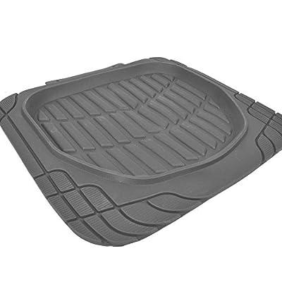 Motor Trend MT-921-GR FlexTough Tortoise - Heavy Duty Rubber Floor Mats for Car SUV Van & Truck - All Weather Protection - Deep Dish (Gray): Automotive