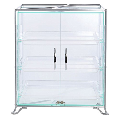 (Cal-Mil 3-Shelf Silver Metal and Acrylic Countertop Bakery Display Case - 16