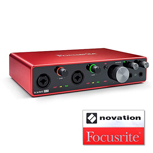 [해외]Focusrite 포커스 라이트 오디오 인터페이스 86 아웃 24bit192kHz Scarlett 8i6 (3rd Gen) 스티커 있는 세트 【 국내 정규 품 】 / Focusrite Focus Light Audio Interface 8-in6-Out 24bit192kHz Scarlett 8i6 (3rd Gen) Set with Sticker [Domesti...