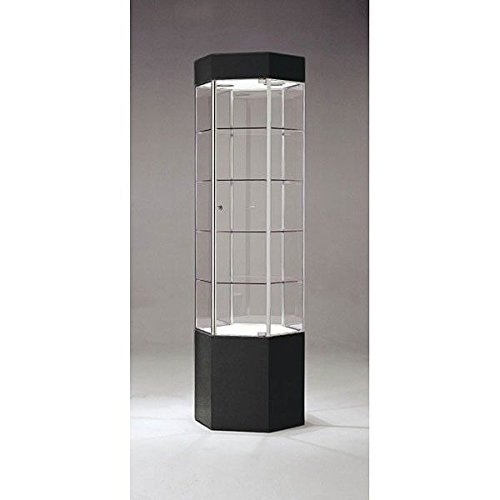 Tower Display Trophy Glass Assembled Showcase Retail Fixture US Made 75