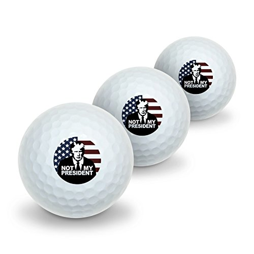 GRAPHICS & MORE Not My President Anti Donald Trump Novelty Golf Balls 3 Pack
