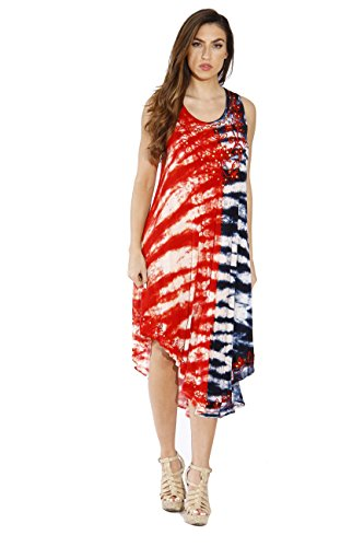 Riviera Sun 21523XX American Flag Dress/USA Plus Size Summer Dresses