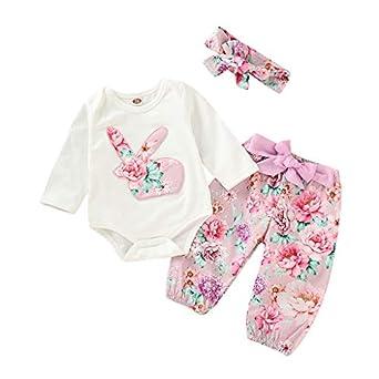 7c2aef267fc IMJONO Pâques Vetement Bébé Fille Ete Ensemble Bebe Garcon Naissance  Printemps Chemise Blouse t Shirt Pyjama