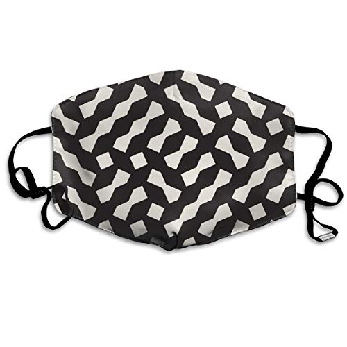 - Sanghing Customized Funnel Geometric Lattice Pattern Irregular Grid Comfortable Breathable Mask, Universal Respirator Mask for Men and Women to Protect The Face