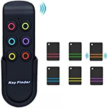 Key Finder, Remote Pet Wallet Wireless RF Item Locator, Item Tracker Device 1 RF Transmitter and 6 Receivers to Easily Find Your Keys, Pet, Wallet, Purse, TV Remote, Phone and Make Life Easier