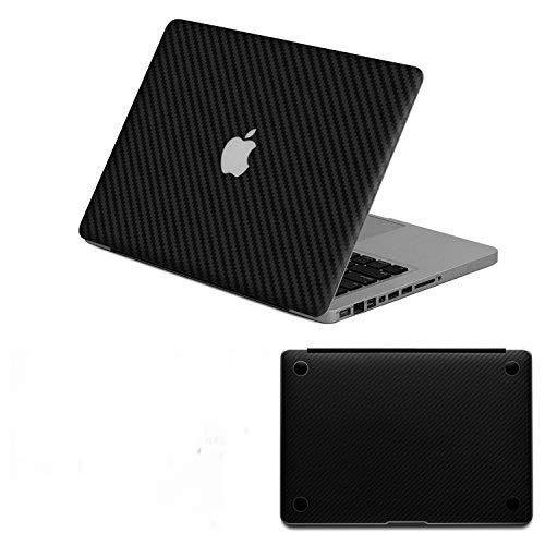 HERNGEE Carbon Fiber Protective Decal & Skin Protector, PVC Skin Cover Sticker Compatible with MacBook Air 13 inch, Black