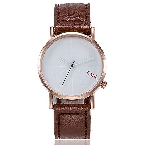 DressLksnf_Reloj Lujo Moda de Mujer Pulsera Banda de Cuero Reloj Cadena Ajuste Elegante Simple Acero Inoxidable Durable Digital Clásico: Amazon.es: Ropa y ...