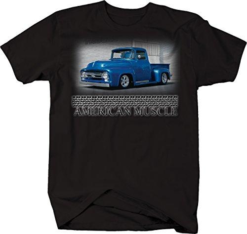 - American Muscle F100 Ford F1 Blue Hotrod Truck Pickup Retro