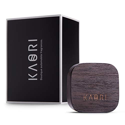 Kaori Luxury Car Air Freshener - Handmade Wooden Fragrance Diffuser Vent Clip - Premium Scent Equilibrium Blended by Boutique Perfumers - Real Natural Perfume from Italy - Tobacco, Laurel, Agarwood