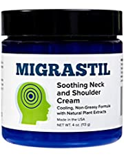 Migrastil Relief Cream (4oz) - Powerful Topical Cream for Migraines, Tension Headaches and Muscle Pain in Neck & Shoulders - Fast Acting & Non-Greasy Relief with Aloe Vera