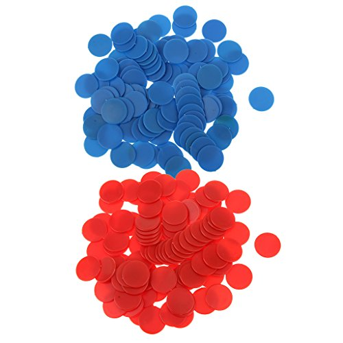 - Prettyia 200 Pieces Poker Chips Bingo Board Games Markers Tokens Kids Counting Tools
