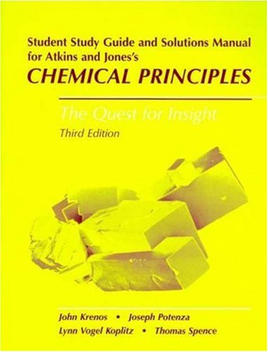 Chemical Principles Student's Study Guide & Solutions Manual