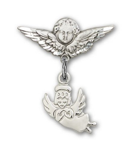 Icecarats Créatrice De Bijoux En Argent Sterling Ange Gardien Ange Charme Broches Badge 7/8 X 3/4