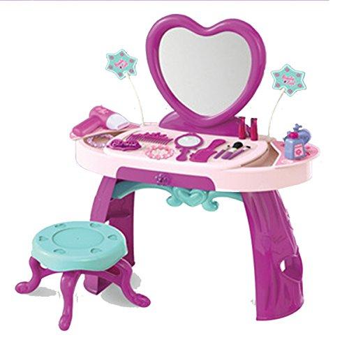 toyshine girls pretend play luxurious dresser dressing table set (Multi color, 27 pieces)