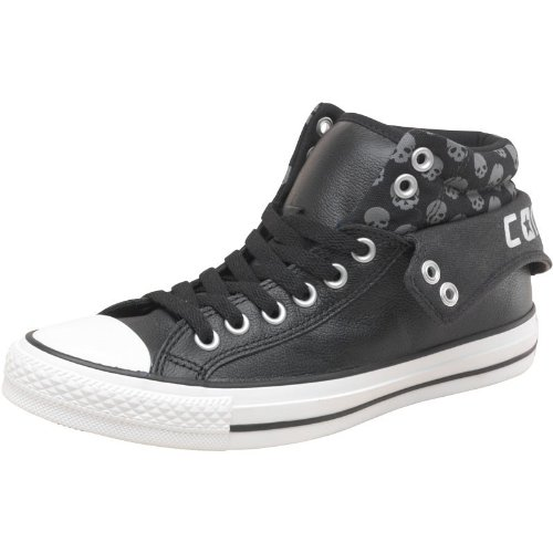 df5e37d3877f Womens Converse CT All Star Padded Collar 2 Mid Leather Skulls Black Girls  Ladies (6.5 UK 6.5 Euro 39.5 US 8.5)  Amazon.co.uk  Shoes   Bags