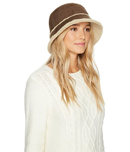 UGG Women's Waterproof Sheepskin Bucket Hat Slate Curly (Ugg Bucket Hat)