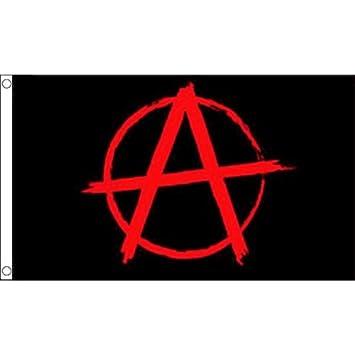 Verzamelingen Anarchy Red Flag 5Ft X 3Ft Protest Demo Anarchism Punk Banner With 2 Eyelets New Vóór 1939
