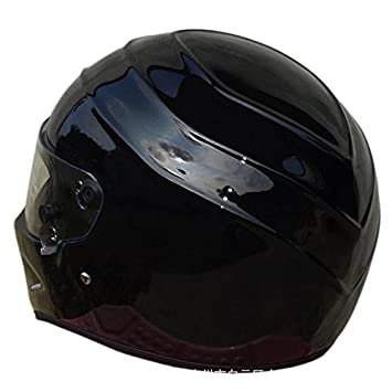 S, Nero LEAGUE/&CO Caschi da moto Casco Caschi da moto Casco integrale Alien Visor Offroad Racing Motocross per Honda Yamaha Casco Suzuki Kawasaki Bandit Oro