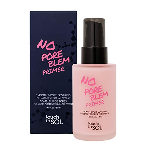 TOUCH IN SOL No Pore Blem Primer 50ml – Face Makeup Primer, Big Pores Perfect Cover, Skin Flawless and Glowing, Instantly Smoothes Lines, Long Lasting Makeup's Staying