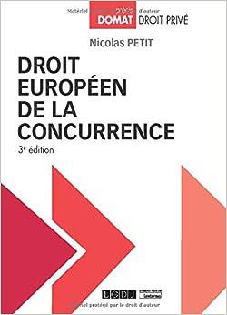 Book's Cover of Droit européen de la concurrence (Français) Broché – 13 octobre 2020