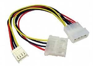 Energía Divisor Cable 4 Pines LP4 Molex A Molex & 4 Pines Floppy Clavija